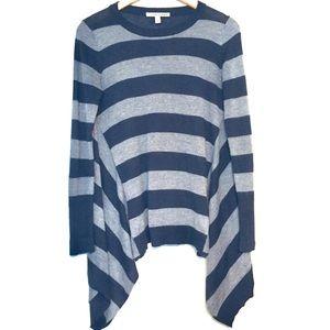 Autumn Cashmere | Gray Black Stripe Sweater (S)